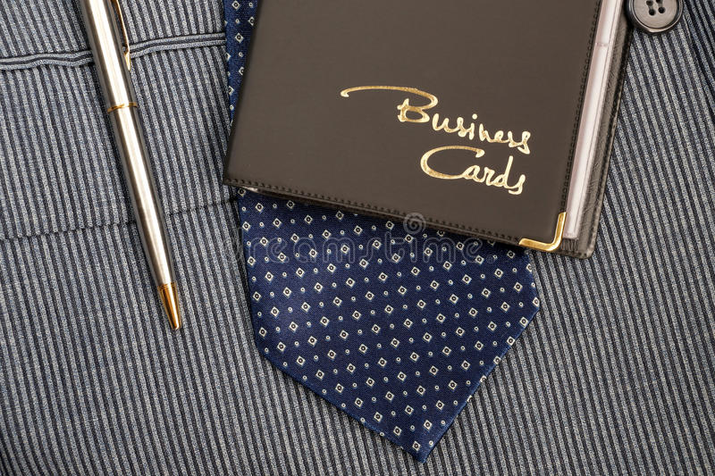 Case for business cards. From a leather substitute royalty free stock photography