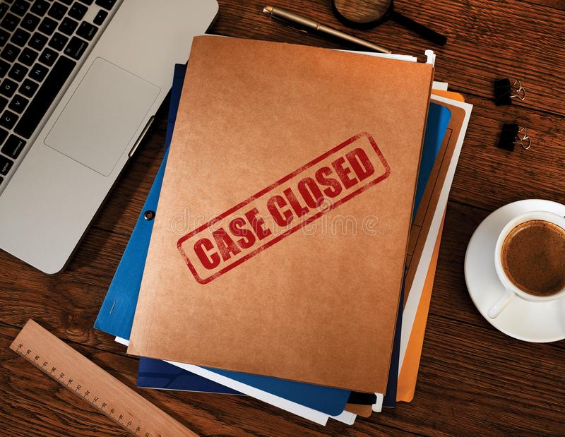 Case closed folders royalty free stock image