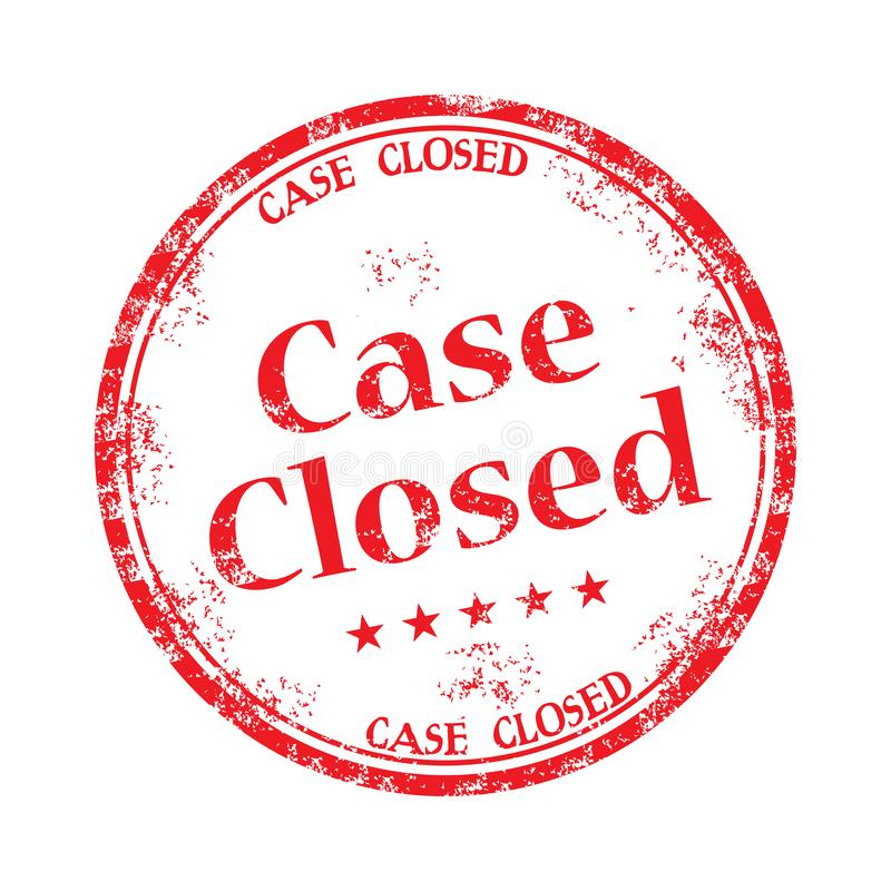 Case closed rubber stamp royalty free stock photo