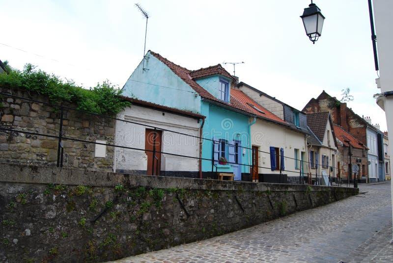 Case degli artigiani in Montreuil, Francia del Nord immagine stock libera da diritti