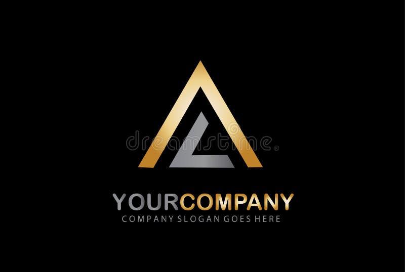 Case del bene immobile?, appartamenti da vendere o per affitto Diriga il marchio Logo della lettera della LA piramide illustrazione vettoriale
