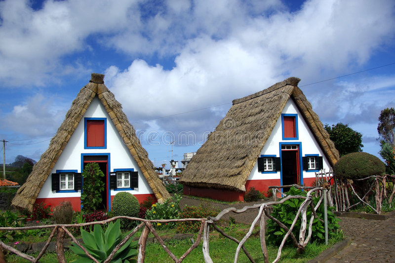 Case della Madera immagini stock