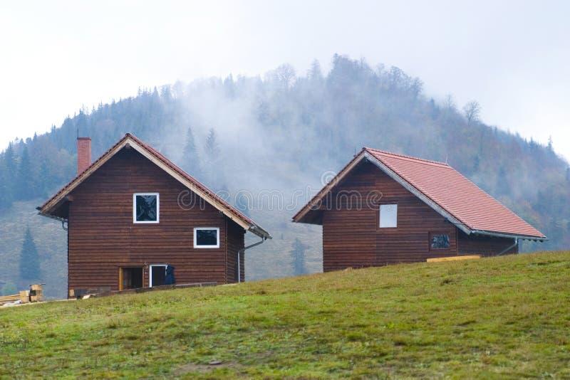 Case della montagna fotografia stock