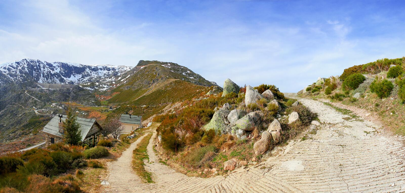 Case della montagna fotografie stock libere da diritti