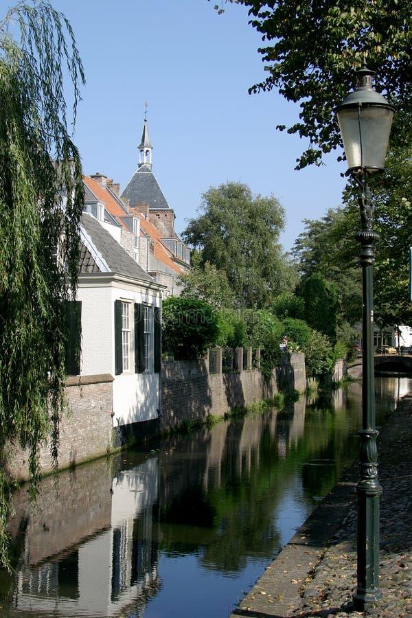 Case della parete a Amersfoort fotografia stock