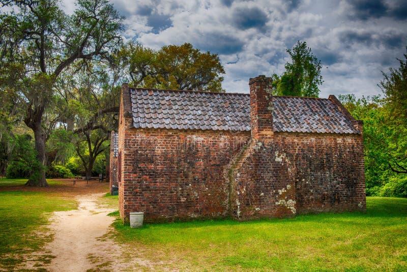 Case della piantagione di Boone Hall, Charleston immagine stock libera da diritti