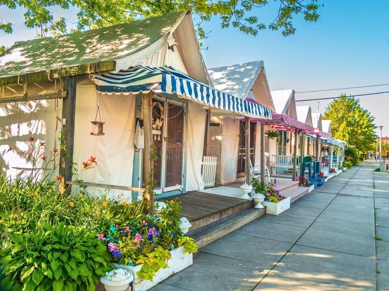 Case della tenda di vacanza fotografie stock libere da diritti