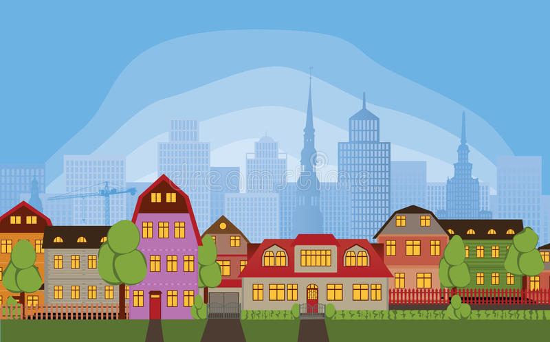 Case della vicinanza royalty illustrazione gratis
