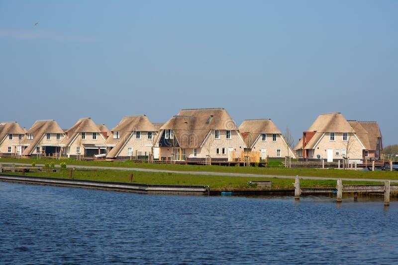 Case delle vacanze olandesi fotografia stock