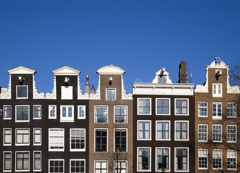 Case di Amsterdam fotografia stock