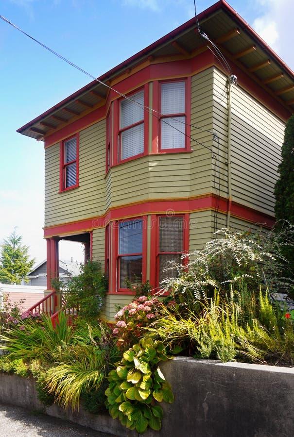 Case di Astoria, Oregon Stati Uniti fotografia stock libera da diritti