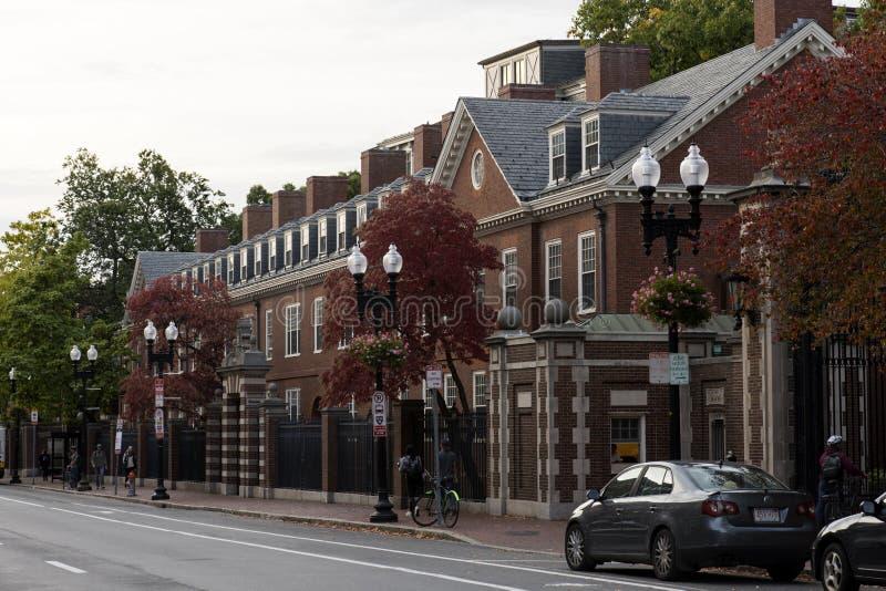 Case di Cambridge a Boston fotografie stock