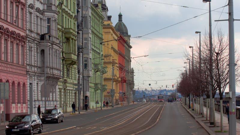 Case di Colorfull nel centro di Praga fotografie stock libere da diritti