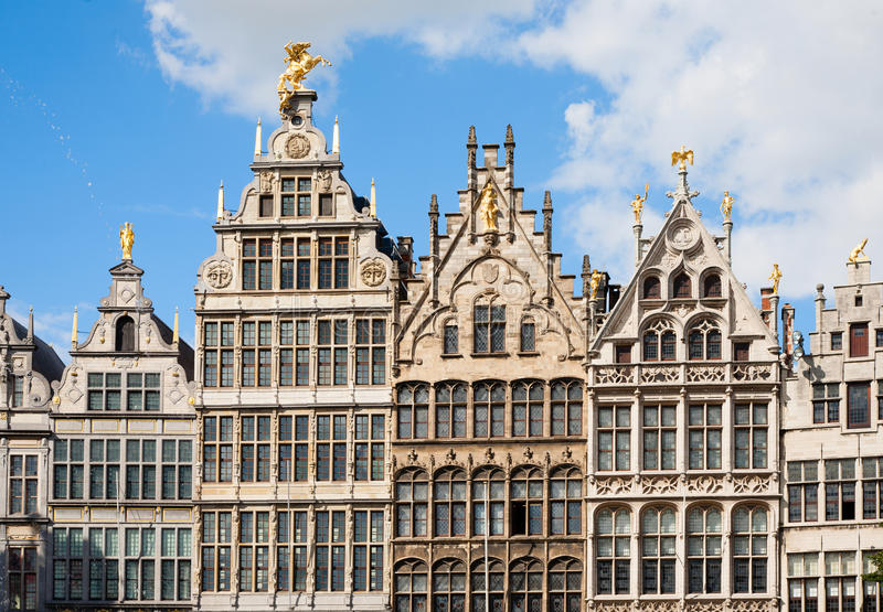 Case di cooperativa di Anversa immagini stock libere da diritti