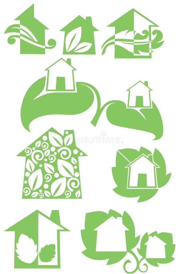 Case di Eco illustrazione di stock