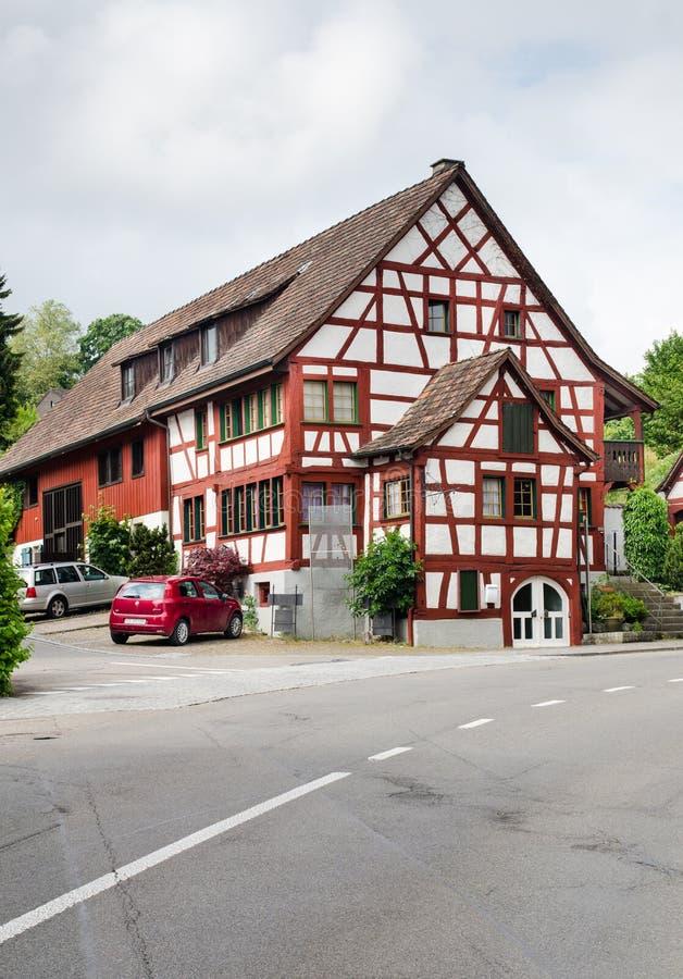 Case di inquadratura d'annata del legname alla città smal in Germania immagine stock