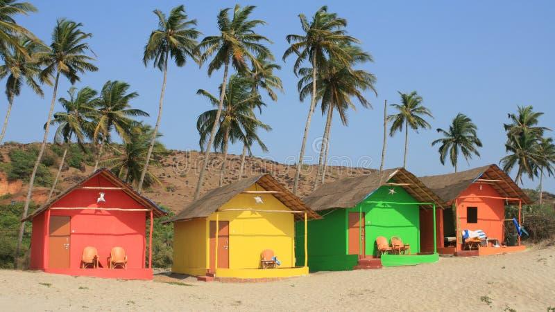 Case di spiaggia indiane fotografie stock