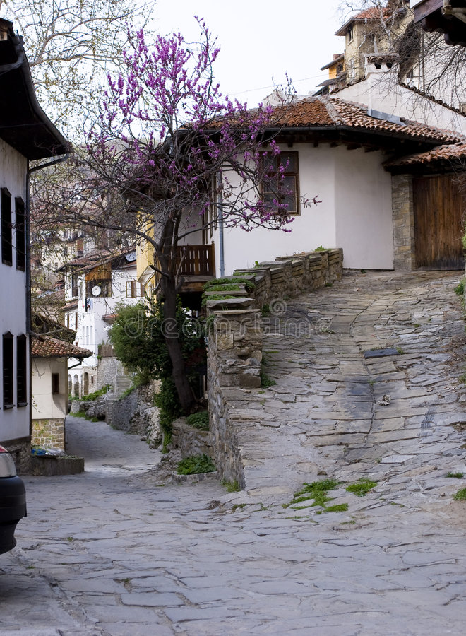 Case di vista della città vecchie immagini stock