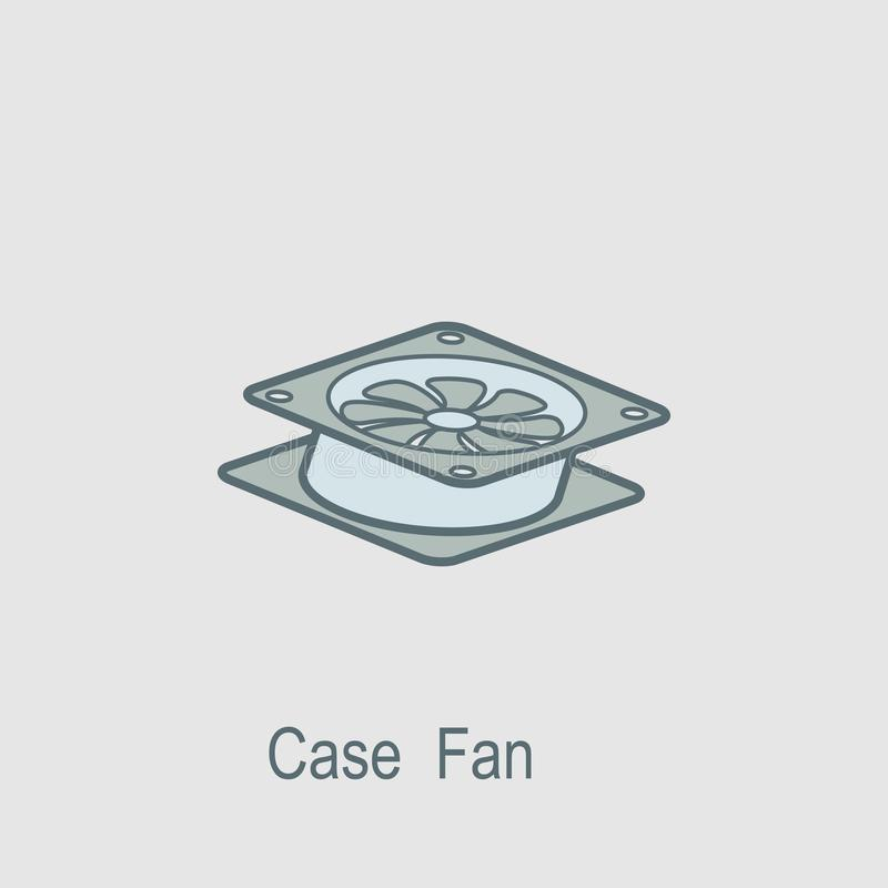 Case Fan Icon  Element Of Computer Parts With Name Icon For