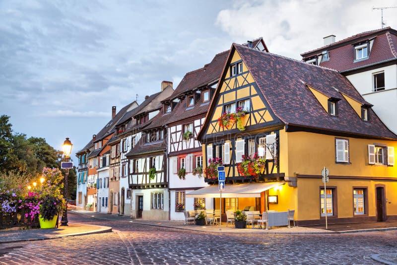 Case francesi tradizionali a Colmar, Francia immagini stock