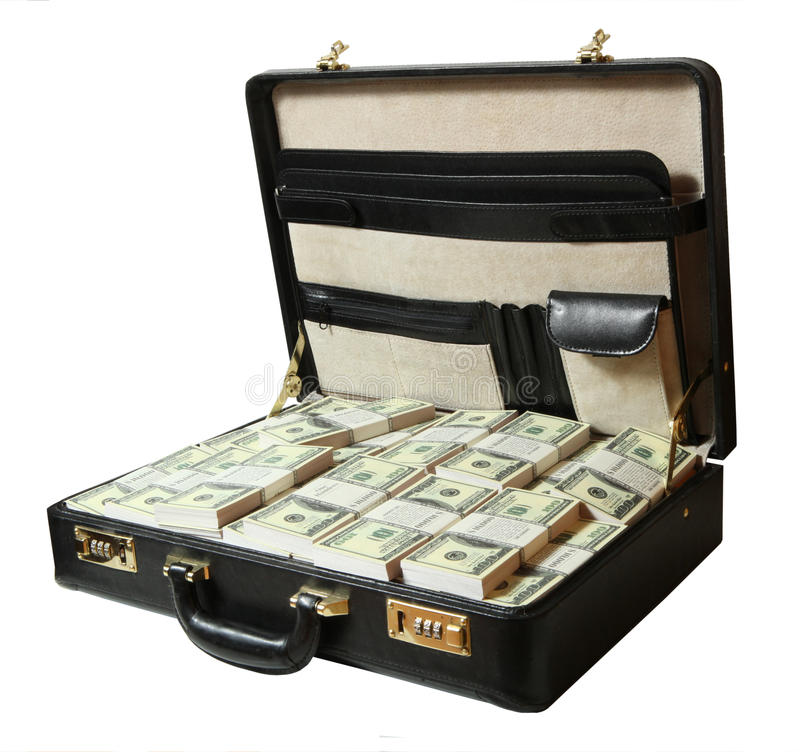 Download Case full of dollar stock image. Image of commerce, fortune - 10068693