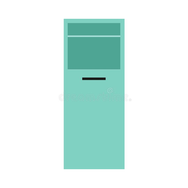 Case furniture object style concept flat equipment job drawer. Vector interior room.  vector illustration