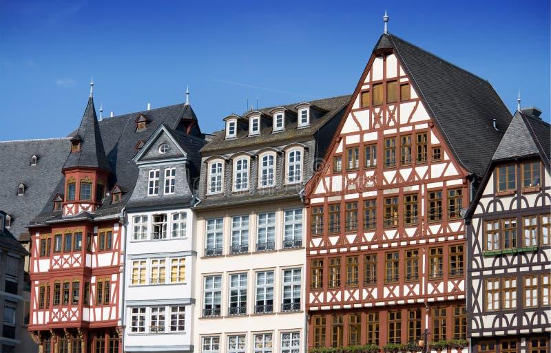 Case Half-timbered a Francoforte fotografia stock libera da diritti