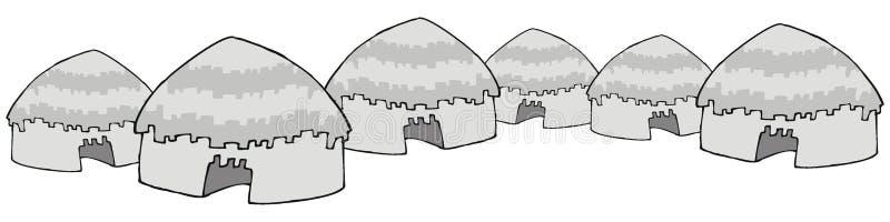 Case indiane illustrazione vettoriale
