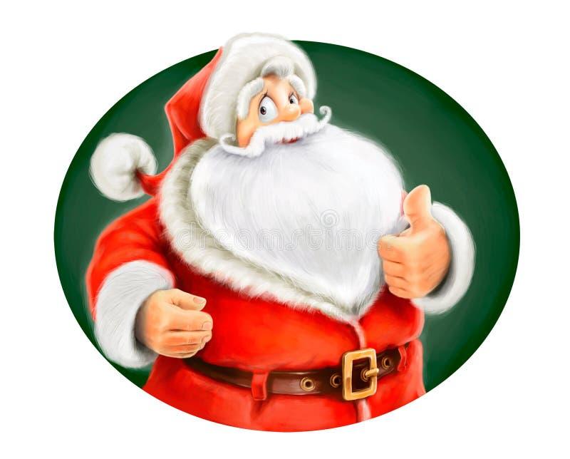 Case la autorización de la demostración de Papá Noel ilustración del vector