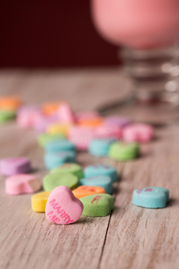 Case-me doces do dia de Valentim do coração da conversação fotos de stock royalty free