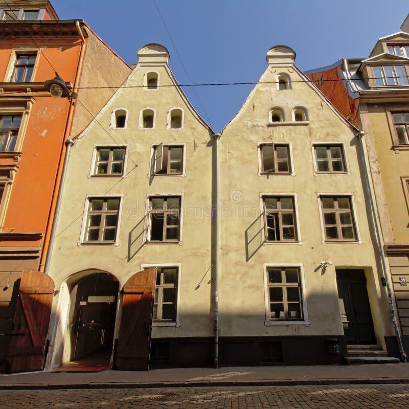 Case medioevali a Riga, Latvia fotografia stock libera da diritti