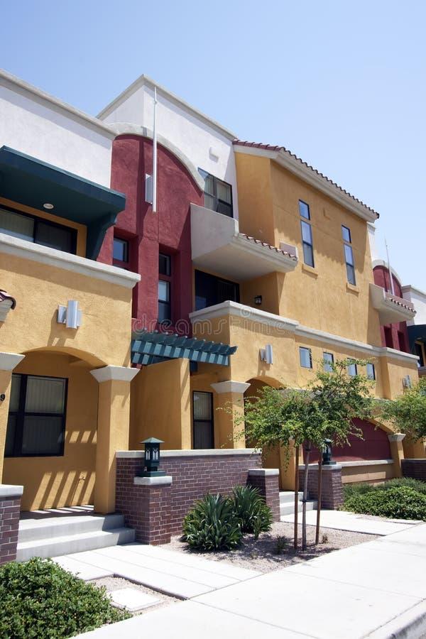 Case moderne del condominio dell'Arizona fotografie stock