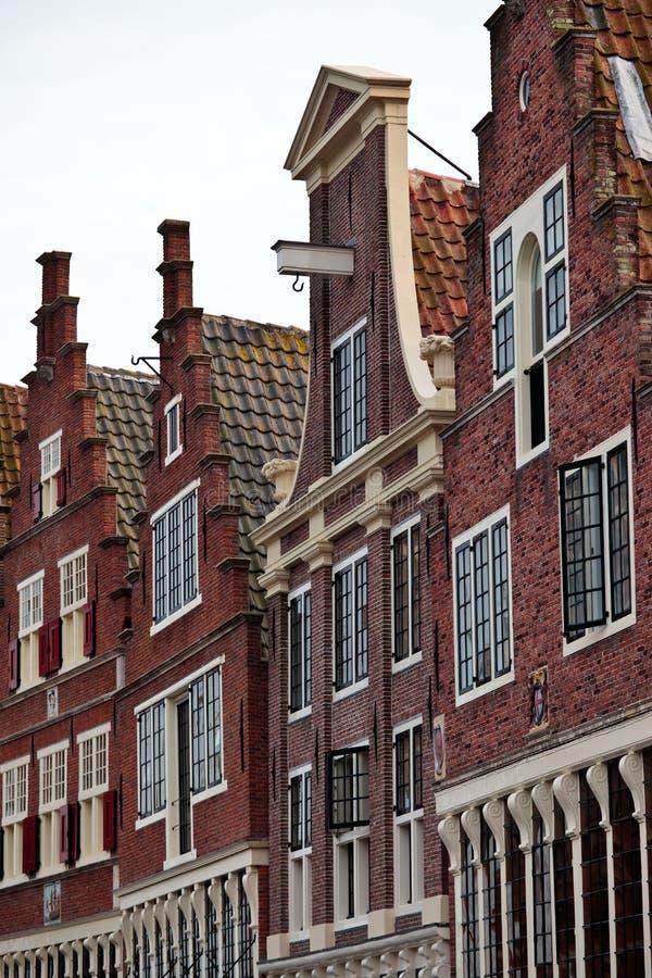 Case monumentali del canale nei Paesi Bassi fotografia stock