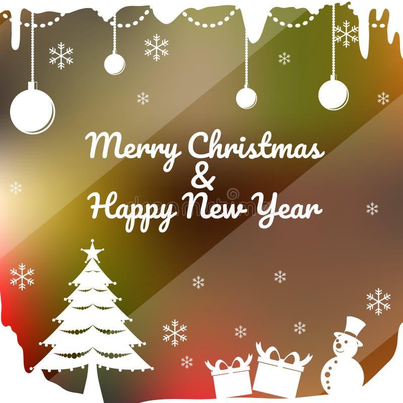 Case o Natal & o ano novo feliz imagem de stock royalty free
