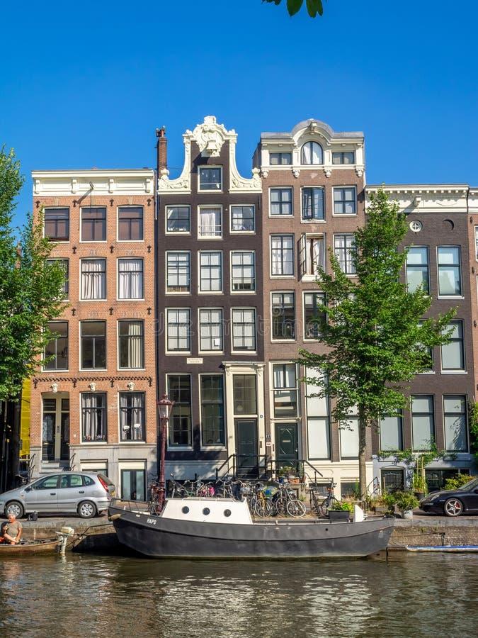 case olandesi a Amsterdam immagine stock libera da diritti