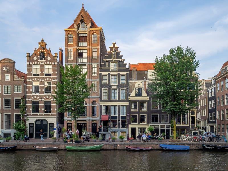 case olandesi a Amsterdam fotografia stock libera da diritti