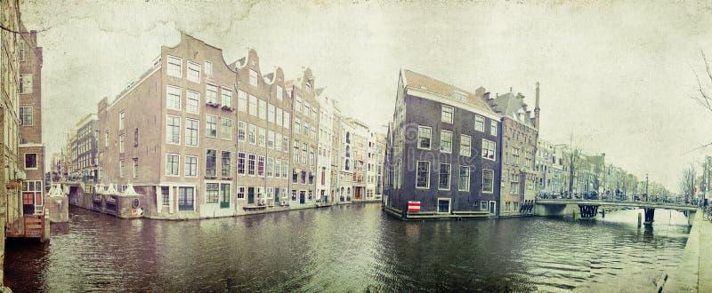 Case olandesi tradizionali del canale fotografie stock libere da diritti