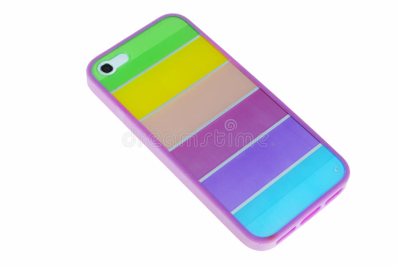 Case for phone cover for smartphone. New color case for phone stock photography