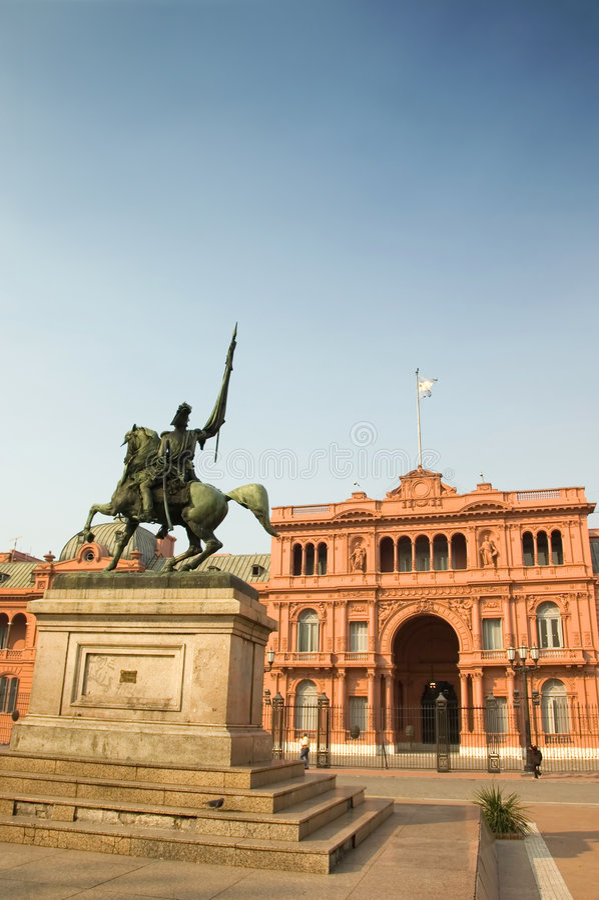 Case Rosada, Buenos Aires, Argentina immagine stock libera da diritti