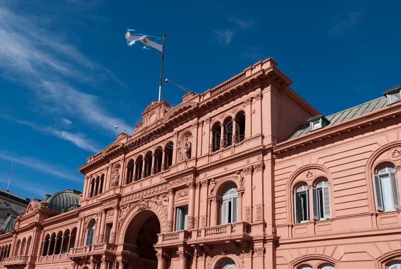 Case Rosada, palazzo presidenziale dall'Argentina immagine stock libera da diritti