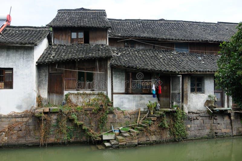 Case stagionate nella città di Xinshi fotografia stock
