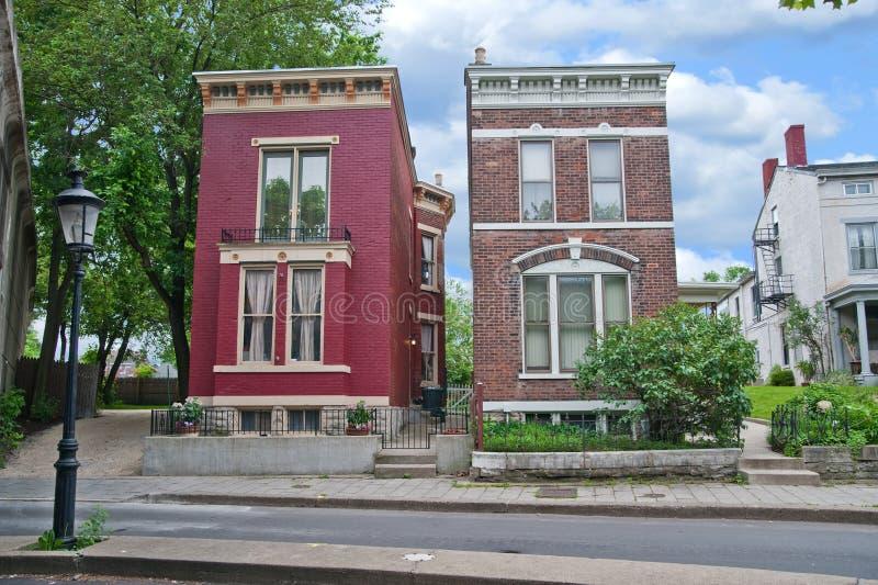 Case storiche nel Kentucky S.U.A. fotografia stock libera da diritti