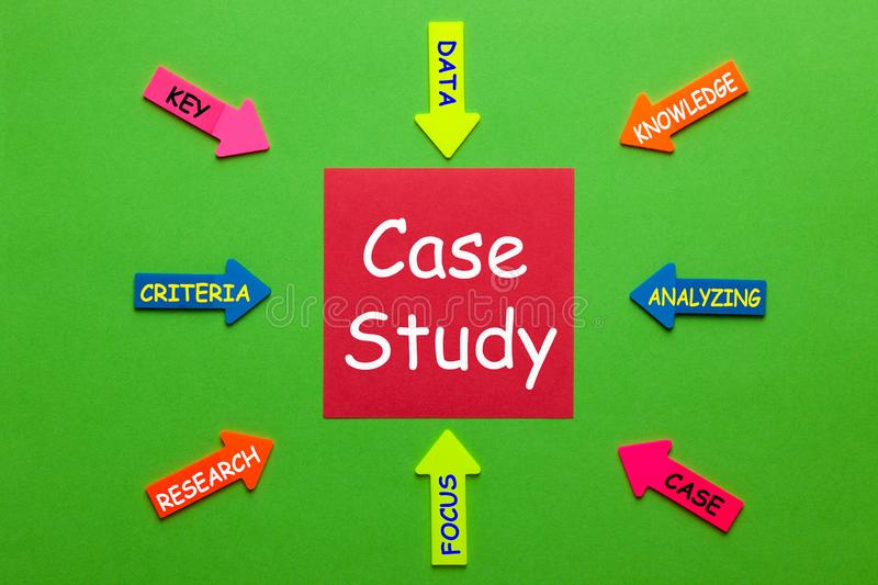 Case Study Concept royalty free stock photography