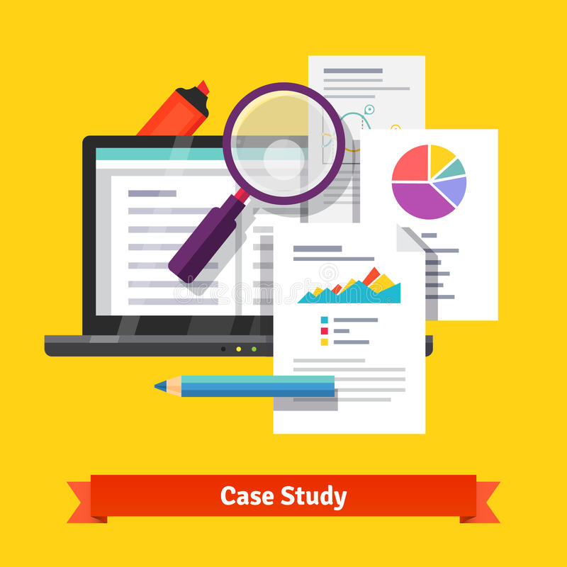 Case study research concept vector illustration