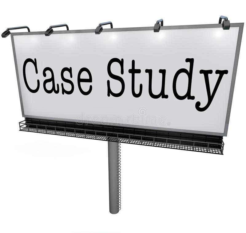 Case Study Words Billboard Banner Sign Example Anecdote Stock Illustration