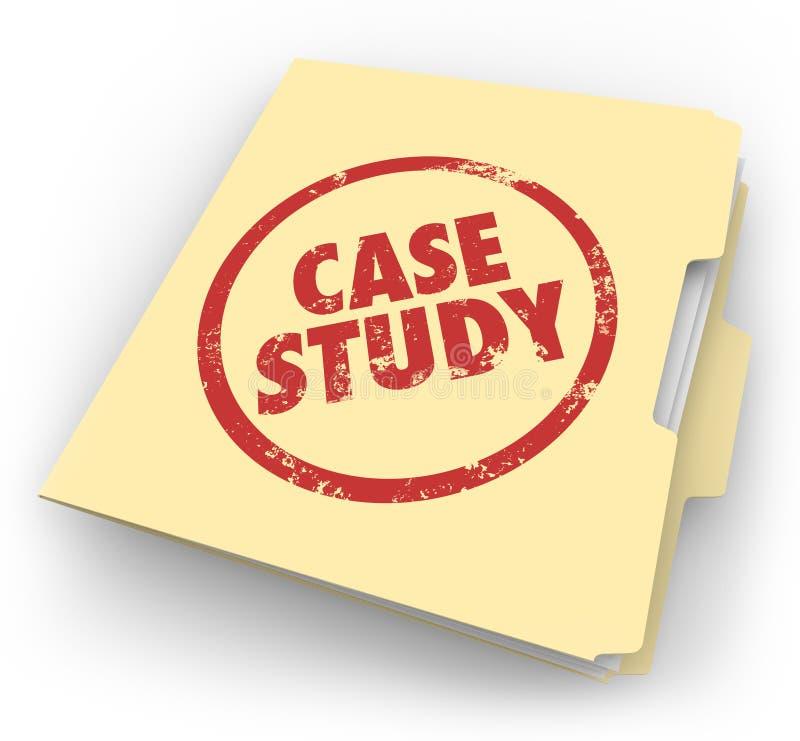 Case Study Words Stamped Manila Folder File Example Document royalty free illustration