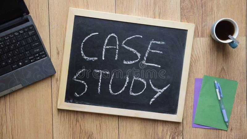 Case study written royalty free stock photo