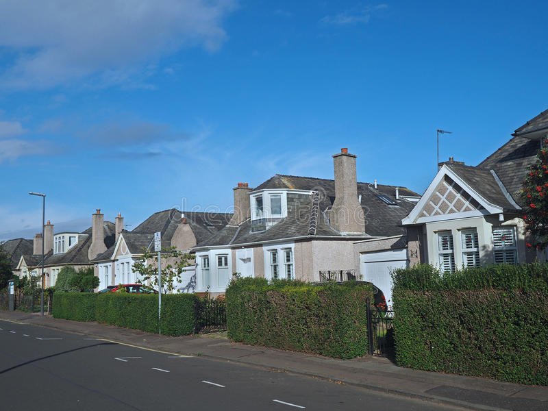 Case suburbane inglesi immagine stock libera da diritti