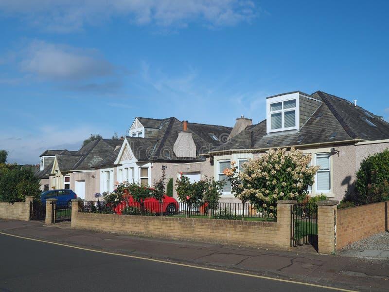 Case suburbane inglesi immagine stock