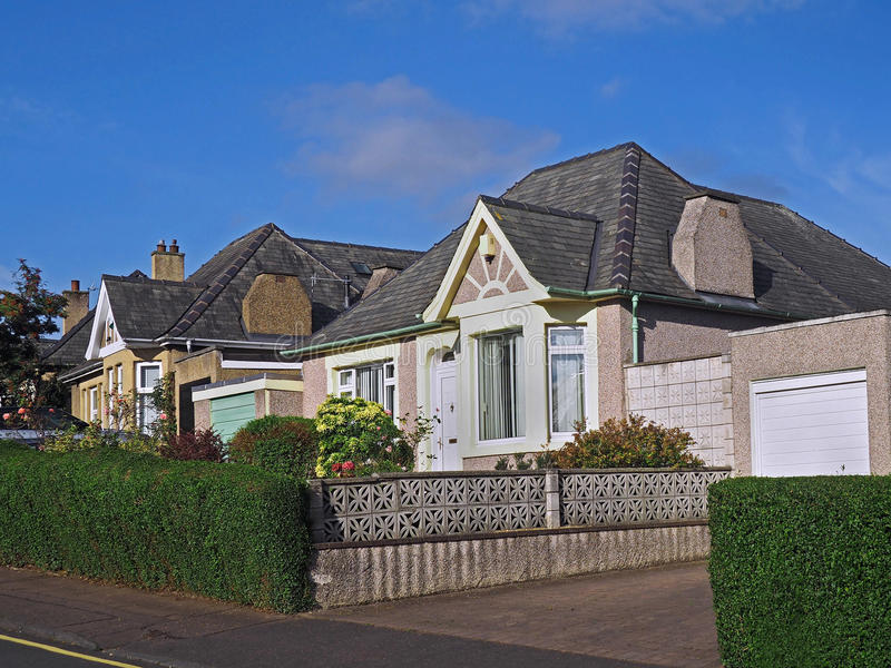 Case suburbane inglesi fotografia stock libera da diritti